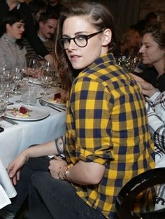 Kristen Stewart hanging out in a private room with her costars from Camp X-Ray during the ChefDance dinner at Sundance.