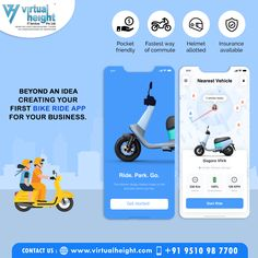 Do you want to design a Ride App? You are at the right place! We offer mobile application development services for your business needs. For more information call us- +91 9510987700  #bikeapp #bikebookingapp #bestbikeapp #mobileapp #iOSapp #Androidapp #bikerideapp #onlinebikebookingapp #bikecabapp #bikepickupapp #twowheelertaxiapp #onlinebikerideapp #virtualheight #ahmedabad