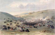 Buffalo hunt, George Catlin