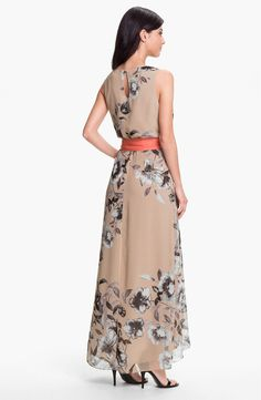 Free shipping and returns on Eliza J Print High/Low Chiffon Maxi Dress at Nordstrom.com. A lavish contrast sash punctuates the billowing, high/low silhouette of an elegant chiffon dress blooming with an enchanting floral print.
