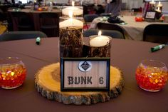 simple camp center pieces