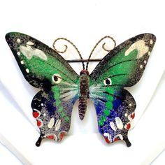 Vintage Enamel Butterfly Pin KOREA by RaeOfLight on Etsy, $7.00