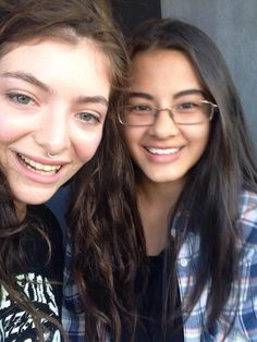 Lorde at the 1975's concert in Auckland