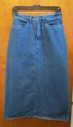 Eddie Bauer Long Modest Denim Skirt - Misses Size 16 - Country ...