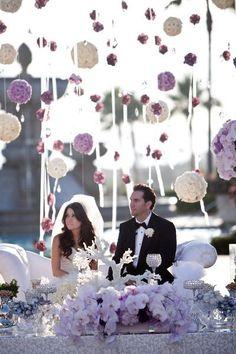 Casamentolândia: Paleta de cores : Lavanda, lilás violeta e roxo.Aqui predomina o lilás e o lavanda com branco.