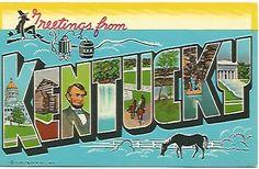 Vintage Chrome Big Letter Postcard by postcardsintheattic on Etsy, $3.99