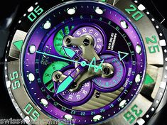 Invicta Reserve Indigo Purple Master Calendar 5040F Swiss Made Black Strap Watch 886678228829 | eBay