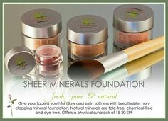 Sheer Minerals Makeup by Lemongrass Spa!   Good for you & great for sensitive skin! Www.OurLemongrassspa.com/Rhiannon