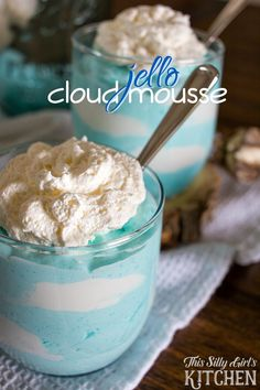 Jello Cloud Mousse, cute, light and airy deliciousness! from ThisSillyGirlsLife.com
