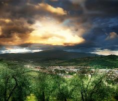 Sunrise over Tuscany! 4 Tips for volunteering your way to free wine!
