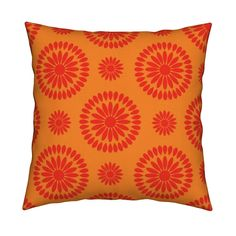 Catalan Throw Pillow featuring Orange Petals by Cheerful Madness!! by cheerfulmadness_cartoons | Roostery Home Decor