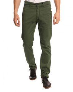Pantalon chino vert forêt Adan