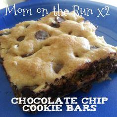 Chocolate Chip Cookie Bars - AKA Heaven on Earth - Mini Van Dreams