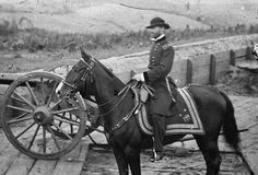 General Sherman on Horseback: General William Tecumseh Sherman on horseback at a Union fort in Atlanta, Georgia, 1864.