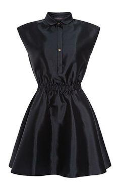 Silk-Blend Gathered Waist Dress by Harvey Faircloth Now Available on Moda Operandi