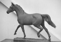 Horse sculptures and statues by Mary Sand : Arabian horse sculpture