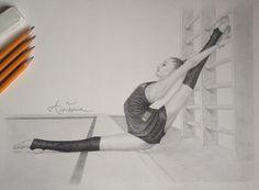 Dibujos de ballet, dibujos a lápiz, dibujos hechos a lapiz, bailarinas de ballet Ballerina Drawing, Dancer Drawing, Ballet Drawings, Dancing Drawings, Cool Drawings, Drawing Sketches, Drawing Ideas, Flexibility Training, Strength Training
