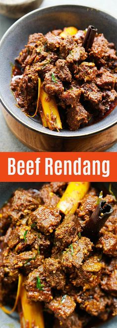 Rendang Beef Rendang - the best and most authentic beef rendang recipe you will find online! Spicy, rich and creamy Malaysian/Indonesian beef stew made with beef, spices and coconut milk Indian Food Recipes, Asian Recipes, Healthy Recipes, Indonesian Recipes, Delicious Recipes, Best Beef Recipes, Healthy Nutrition, Healthy Eating, Tasty