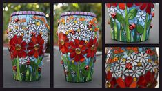 FloWeR FrENzY mosaic vase by Remygem