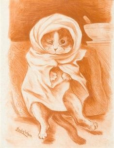 Peter in a blanket by Louis William Wain