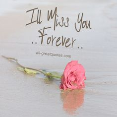 I'll Miss You Forever | #grief #loss | all-greatquotes.com