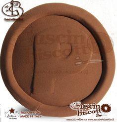 Cuscino Biscotto - Pasticcione Vers.1 - Marrone/Marrone (Fatto a mano in Italia)