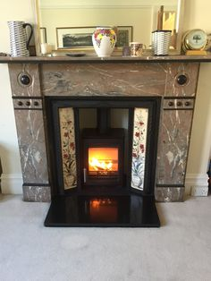 Really pleased with this install of a Parkray Aspect 4 - a contemporary and popular stove that looks great with any style of surround. Stove, Home Appliances, Popular, Contemporary, Wood, Home Decor, House Appliances, Decoration Home, Range