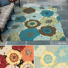 Rug Squared Palmetto Floral Indoor/Outdoor Area Rug (5'3 x 7'5) - Overstock™ Shopping - Great Deals on Rug Squared 5x8 - 6x9 Rugs