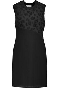 3.1 PHILLIP LIM Appliquéd crepe and wool-twill mini dress. #3.1philliplim #cloth #dress