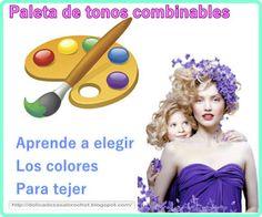 """Delicadezas en crochet Gabriela: Aprendemos a elegir tonos para tejer """"Paleta de co..."""