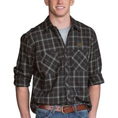 Western Michigan Broncos Brewer Flannel Long Sleeve Shirt - Charcoal - $59.99