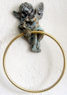 Vintage Shabby Chic Toilet Paper Holder Ring by JewelsRosesNRust, $17.50