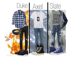 """""""The Big Three Of Oakwood High"""" by idontlikeiobsess on Polyvore featuring Acne Studios, April 77, Banana Republic, DRKSHDW, Asics, David Yurman, Billabong, Aéropostale, Dsquared2 and Converse"""