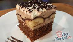 Banánové řezy s kaštanovým pyré | NejRecept.cz Tiramisu, Sweet Tooth, Food And Drink, Chocolate, Drinks, Cake, Ethnic Recipes, Desserts, Gardening