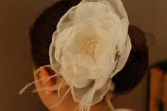 Ivory Bridal Hair Accessory One Piece big İvory by SHOERASHOES, $30.00