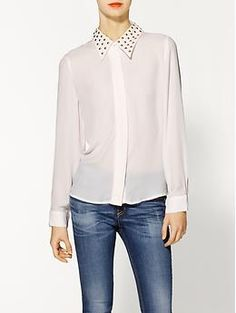 I.Madeline Studded Blouse | Piperlime Work with cardi????