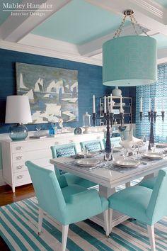 Mabley Handler Interior Design - Beautiful Beach House Dining Room !
