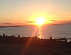 Sunset in Whitstable, Kent