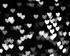 abstract photography black and white wall art heart photography bokeh print art on Etsy.