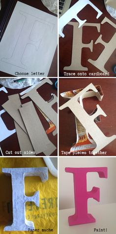 DIY Block Letter