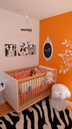 Baby Nursery: Girlie, Orange, Modern & Hip! - Design Dazzle