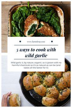 Easy wild garlic recipes: from risotto to pesto to chicken kiev Garlic Ideas, Garlic Recipes, Veggie Food, Veggie Recipes, Cooking Ideas, Cooking Recipes, Wild Garlic Pesto, Wild Onions, Kitchen Witch