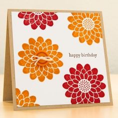 Handmade birthday card with Stampin' Up stamps