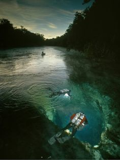 Entrance to the Florida Limestone Under water cave..Have any one been there for a while ?