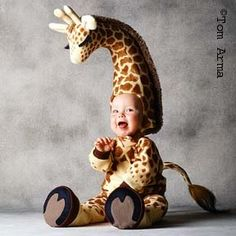costume, LOL.  That baby must have a strong neck.