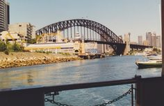 The Sydney Harbour Bridge and Luna Park from the ferry to McMahons Point from Circular Quay.