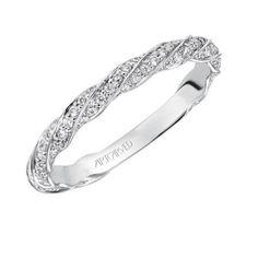 Evie ArtCarved Diamond Wedding Ring