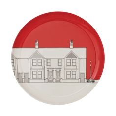 People Will Always Need Plates Victorian Dinner Plates - Set of 4 - Pillar Box at Amara