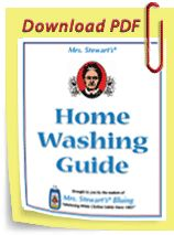 Click to download Mrs. Stewart's Home Washing Guide