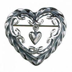 Kalevala Koru / Kalevala Jewelry / Heart of the house brooch / Talon sydän rintakoru / Designer: Tony Granholm / Material: silver or bronze